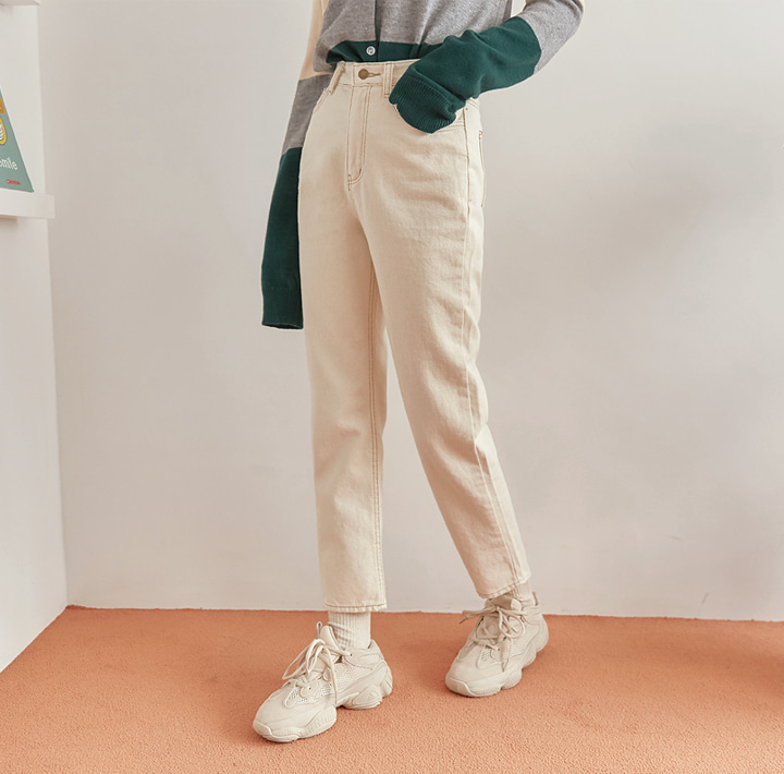 [BOTTOM] WOODY SEMI BAGGY COTTON PANTS