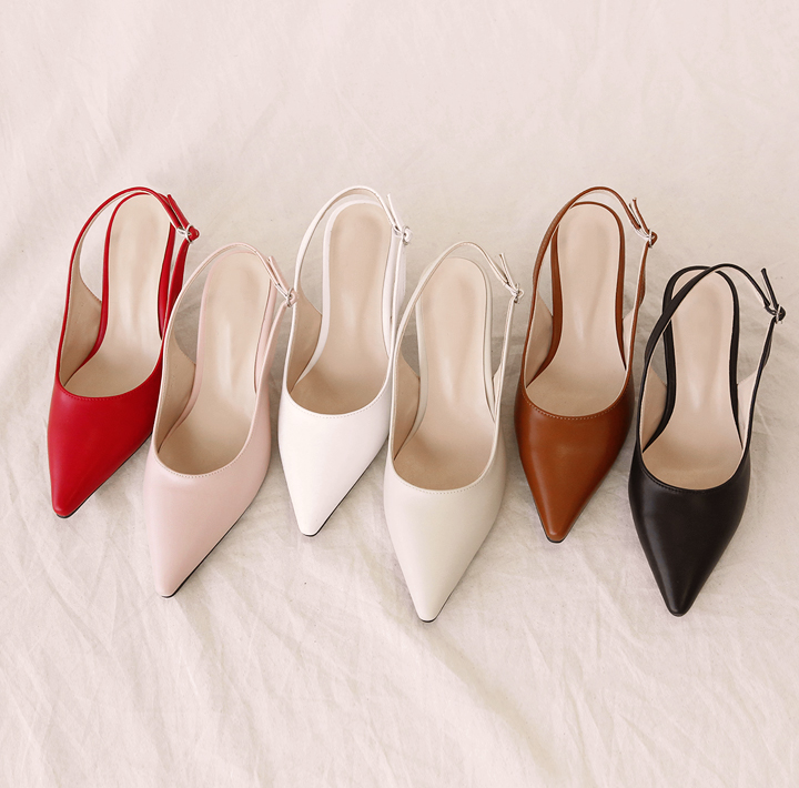 [SHOES] 6 COLOR STILETTO MIDDLE HEEL