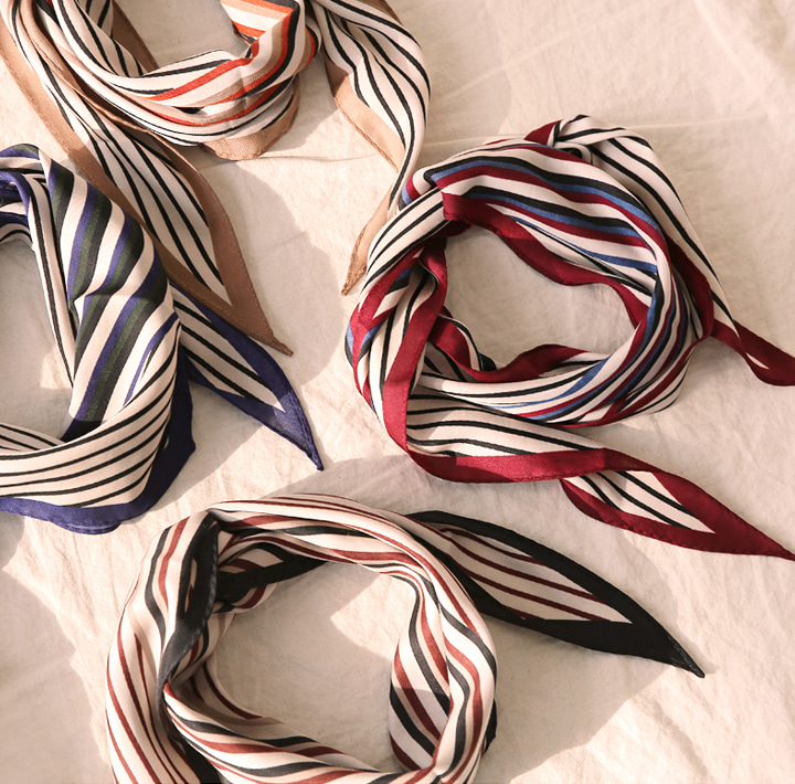 [ACC] MOOD WARM COLOR STRIPE SCARF