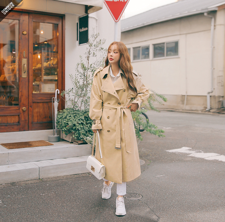 [OUTER] DOUBLE BREAST TRENCH COATWITH CELEBRITY _  장도연 착용