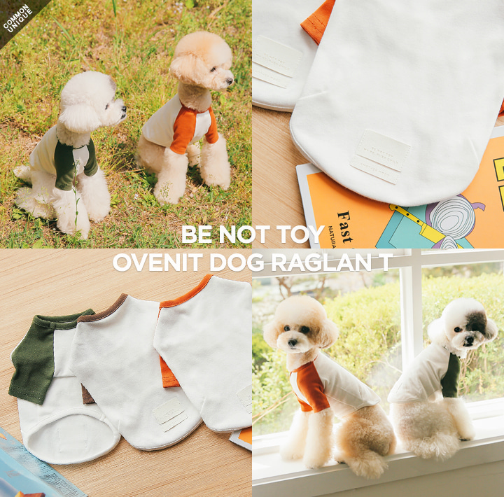 [BE NOT TOY] OVENIT DOG RAGLAN T