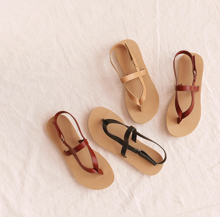 [SHOES] TEBBLE VELCRO FLIP FLOP SANDAL