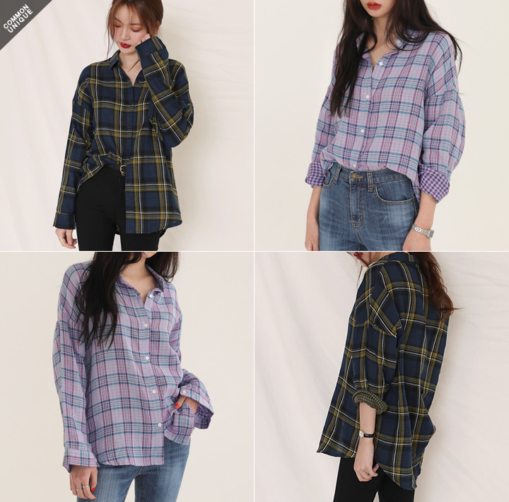 [TOP] ULTRA CHECK SHIRTS WITH CELEBRITY _  박신혜, 송지효 착용