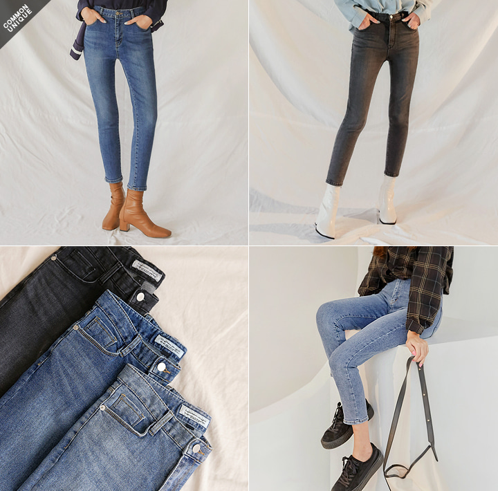 [BOTTOM] CHRISTINE STRAIGHT DENIM PANTS