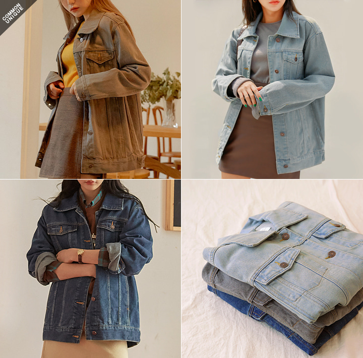 [OUTER] COMMON BOXY DENIM JACKET