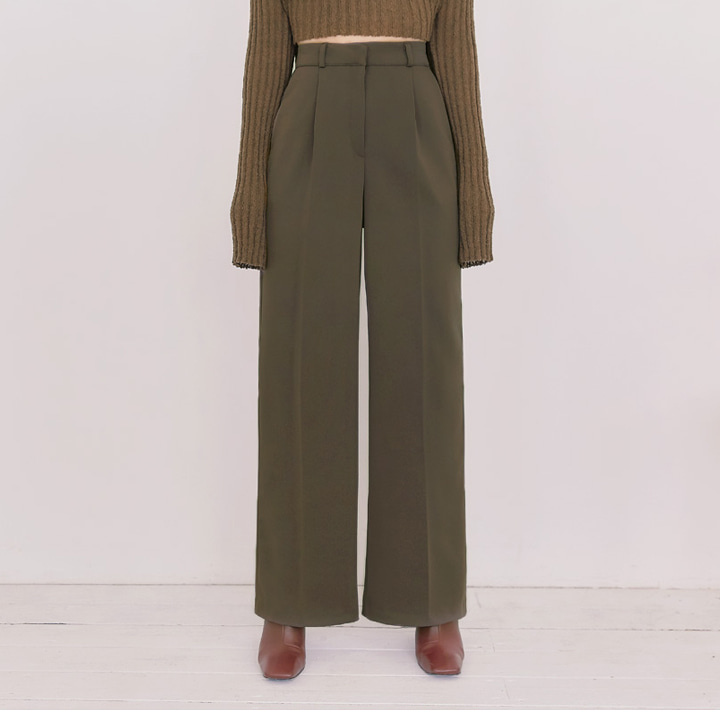[BOTTOM] ODERR PINTUCK WIDE LONG SLACKS