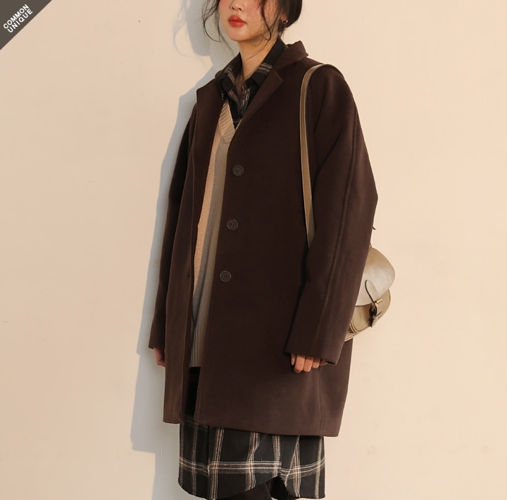 [OUTER] IF RAGLAN SINGLE COAT