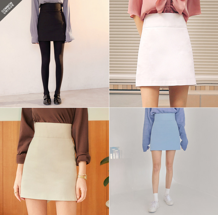 [SKIRT] HIGH WAIST A LINE MINI SKIRT