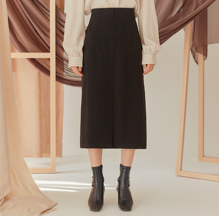 [SKIRT] PANDER NAPPING SLIT LONG SKIRT