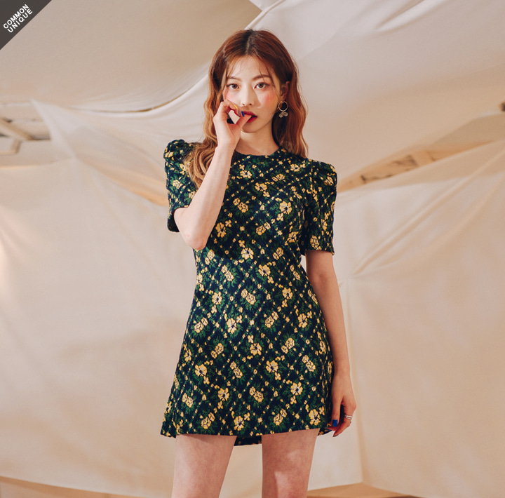 [OPS] YELLOW FLOWER JACQUARD OPS WITH CELEBRITY _ 제니, 사나 착용