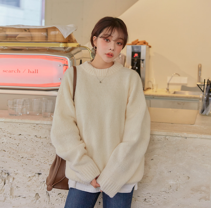 [TOP] SANDS WOOL LOOSE FIT ROUND KNIT