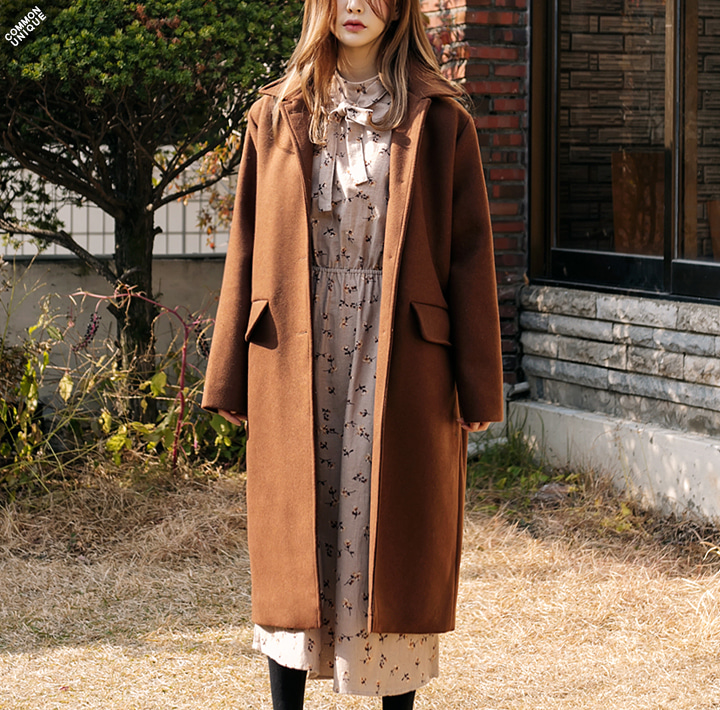 [OUTER] CLASSIC WOOL 70% SINGLE LONG COAT