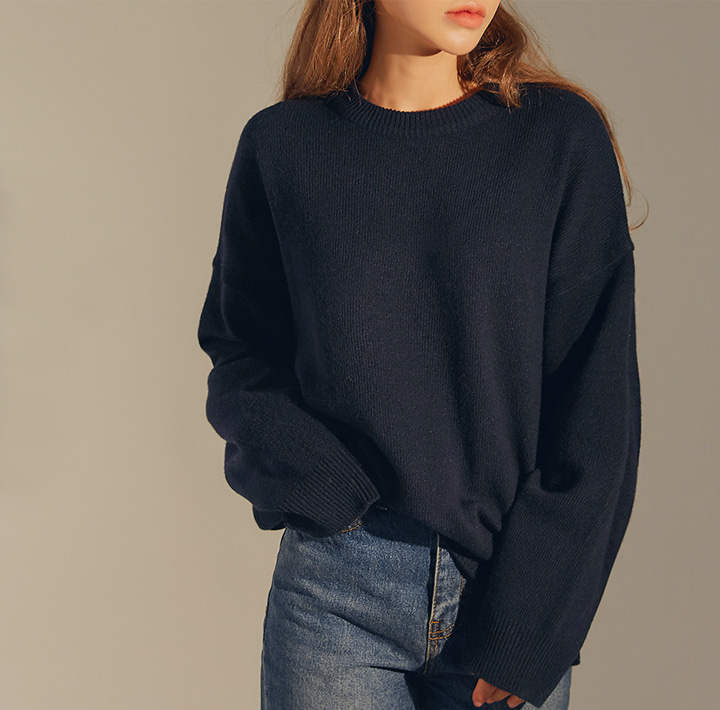 [TOP] DIVINE LAMBSWOOL 60% BOKASHI KNIT