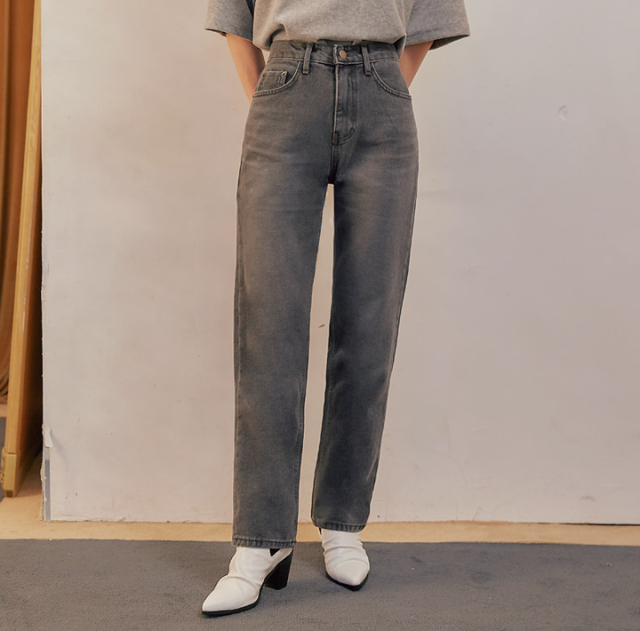 [BOTTOM] CET NAPPING STRAIGHT DENIM PANTS