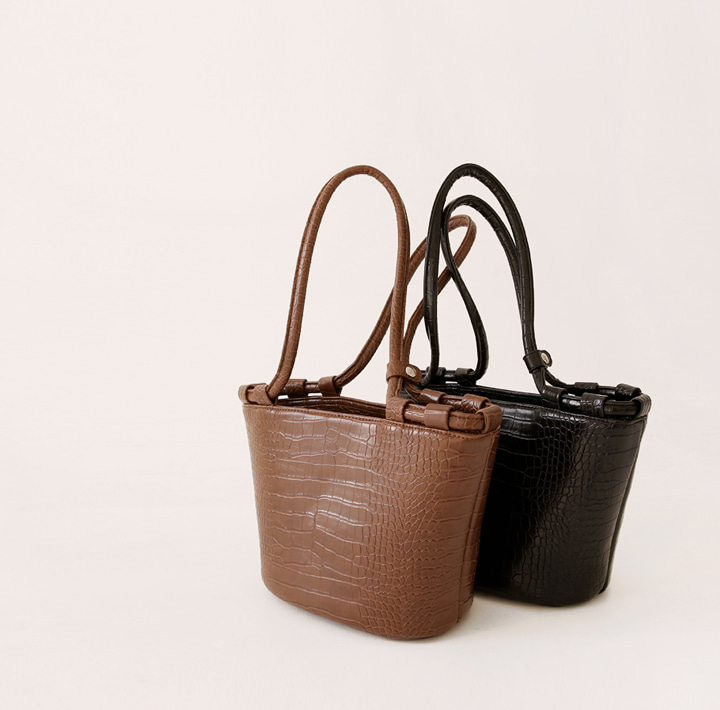[BAG] VOLIN CROCODILE BASKET LEATHER BAG