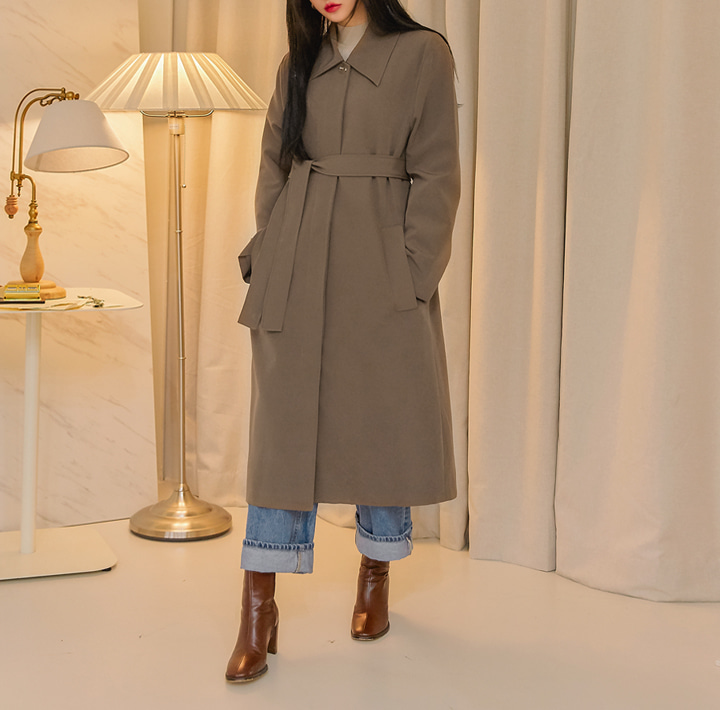 [OUTER] DEVIN HIDDEN MAC TRENCH COAT