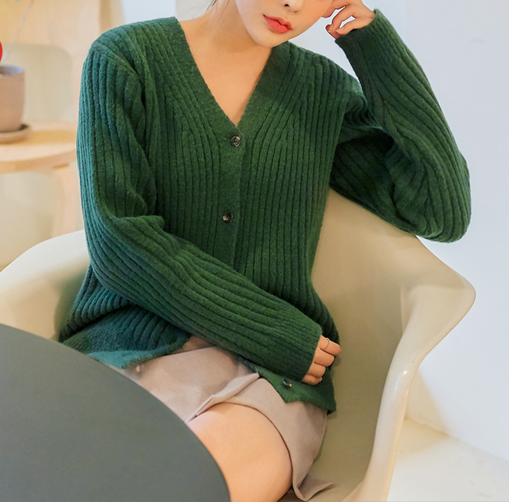 [OUTER] NOUR GOLGI V NECK KNIT CARDIGAN