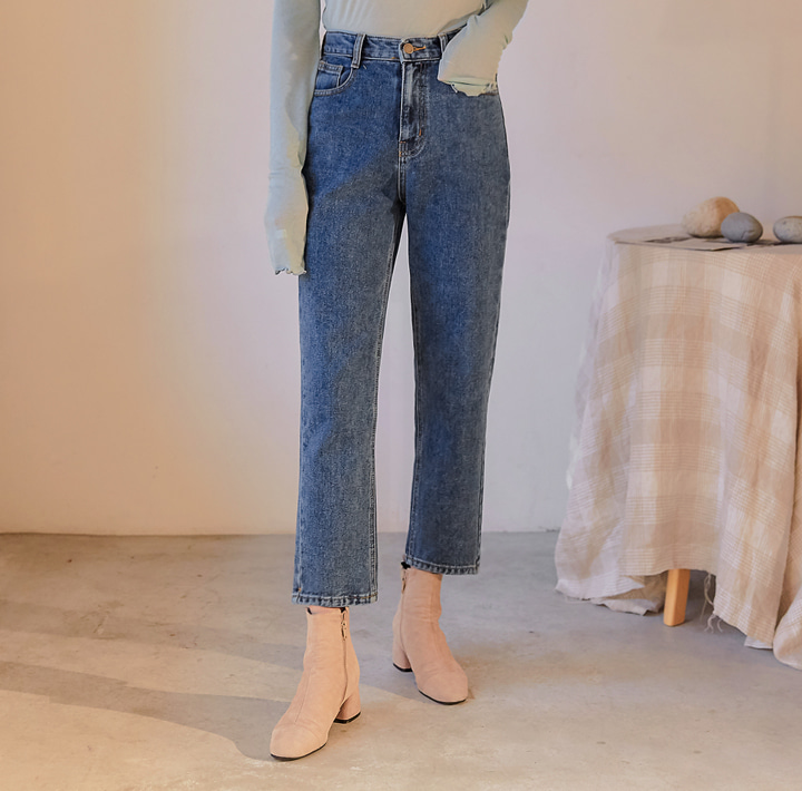 [BOTTOM] DAVE SEMI BAGGY DENIM PANTS