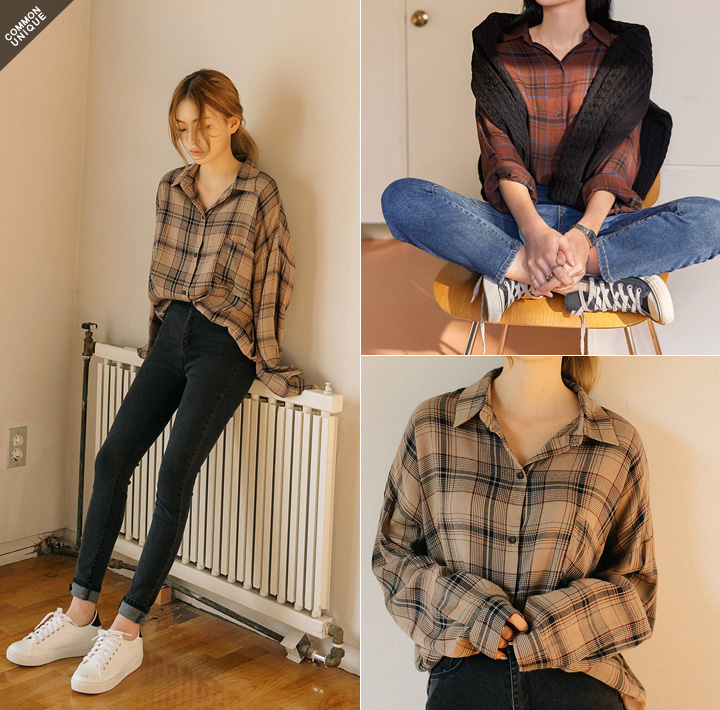 [TOP] VINTAGE CHECK POCKET SHIRTSWITH CELEBRITY _ 지수(블랙핑크) 착용