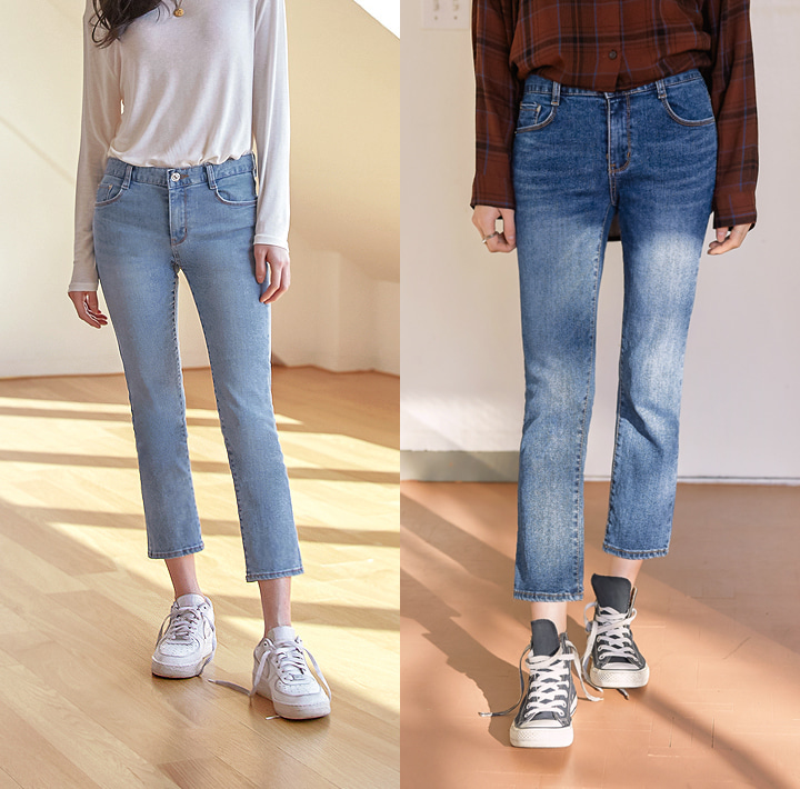 [BOTTOM] SECOND 9 DENIM PANTS