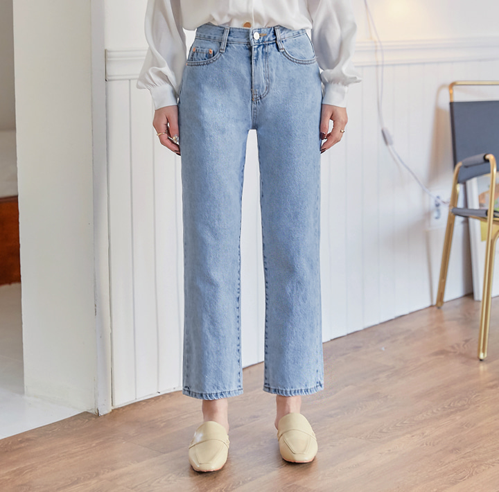 [BOTTOM] MOODBIN STRAIGHT DENIM PANTS