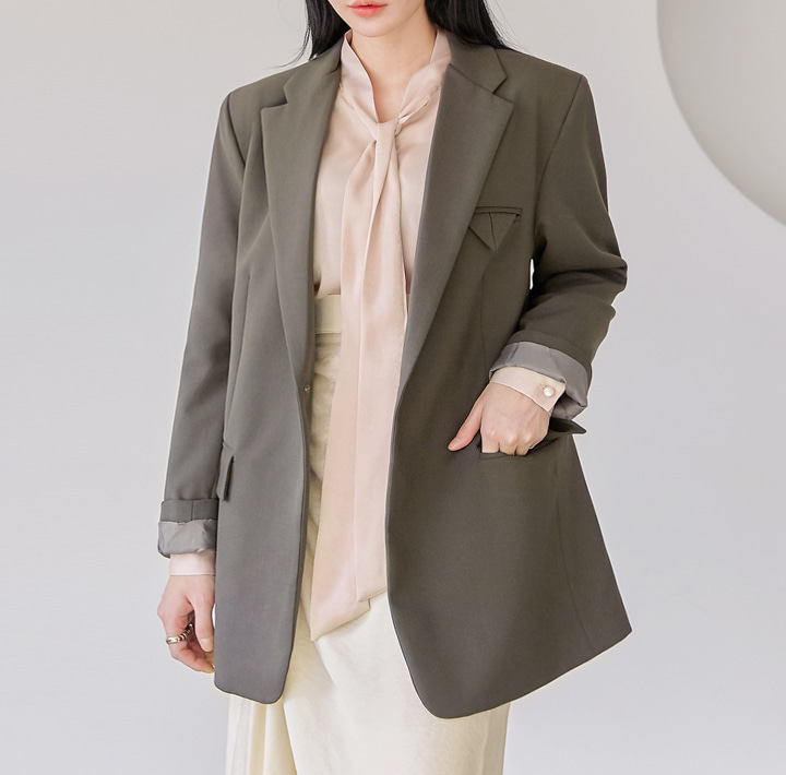 [OUTER] POCKET POINT ONE BUTTON JACKET