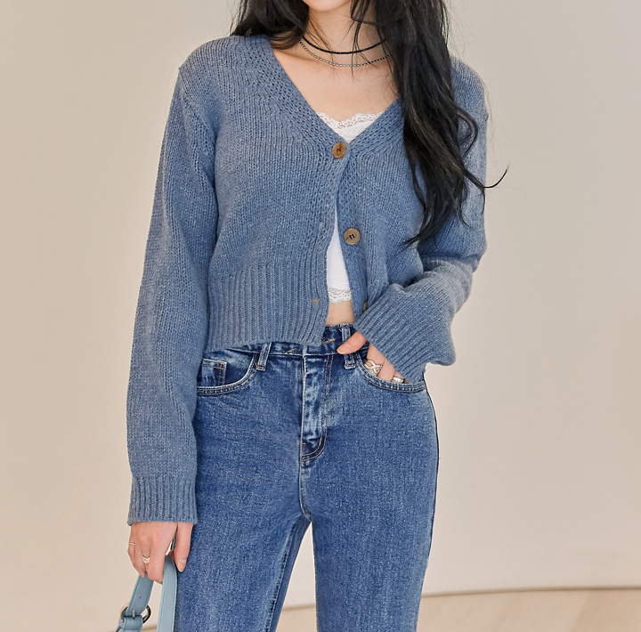 [OUTER] LOHA LAMBSWOOL 60% KNIT CARDIGAN