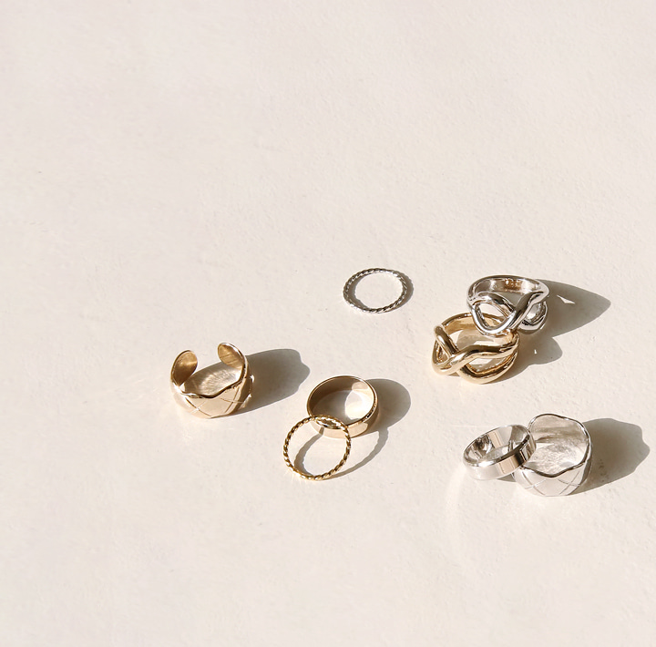 [JEWELRY] POVI LAYERED RING 4 SET