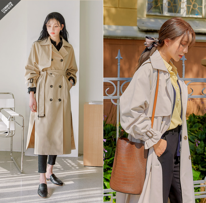 [OUTER] ACE RAGLAN TRENCH COAT