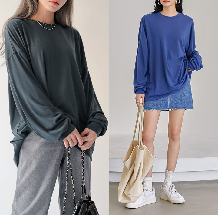 [TOP] TISS BASIC SOFT LOOSE FIT T