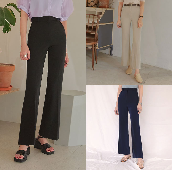 [BOTTOM] RAILO SLIM BOOTS LONG SLACKS