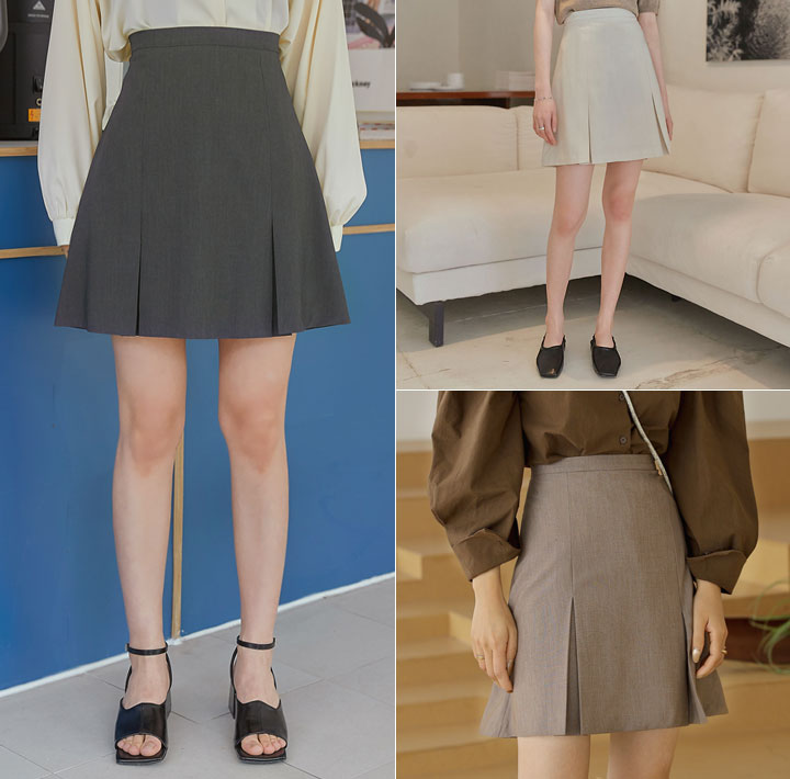 [SKIRT] SERRE A LINE SLIT MINI SKIRT