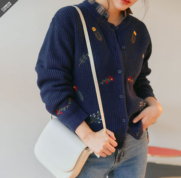 [OUTER] VALENTI FLOWER KNIT CARDIGAN