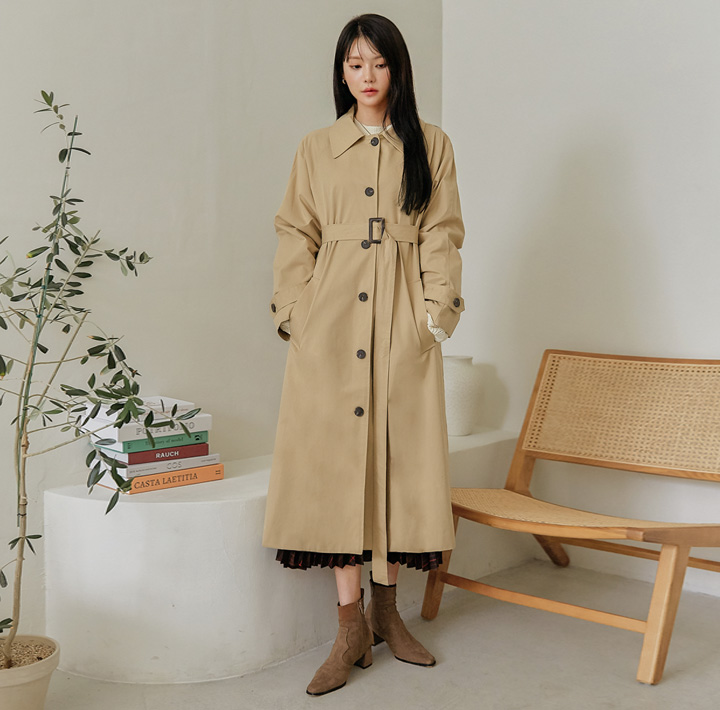 [OUTER] PERIN SINGLE TRENCH COAT