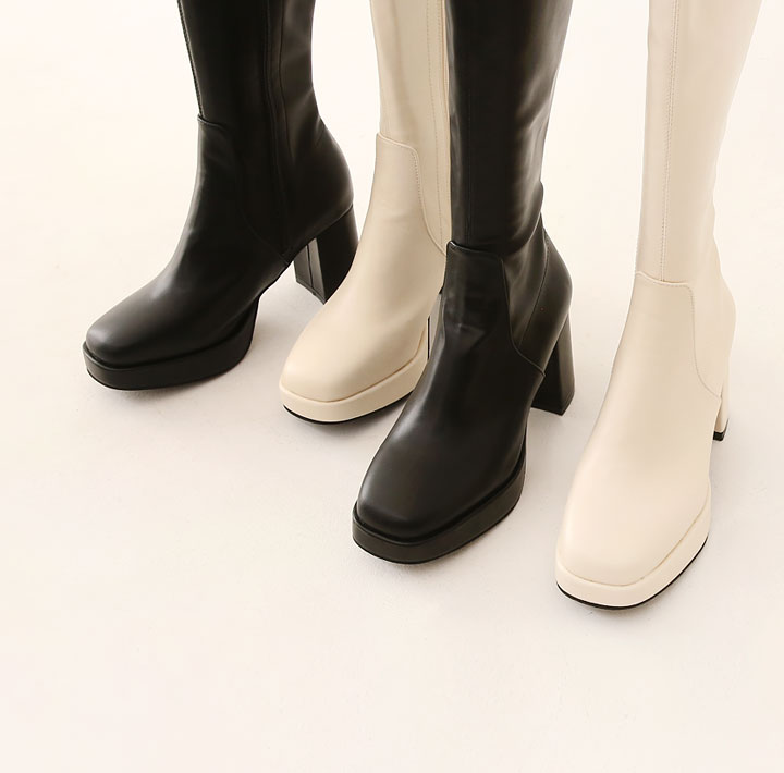 [SHOES] FURIV LEATHER LONG BOOTS