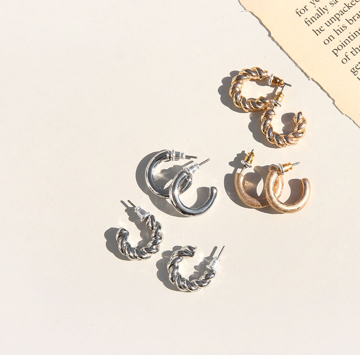[JEWELRY] PAY 2 TYPE RING EARRING SET