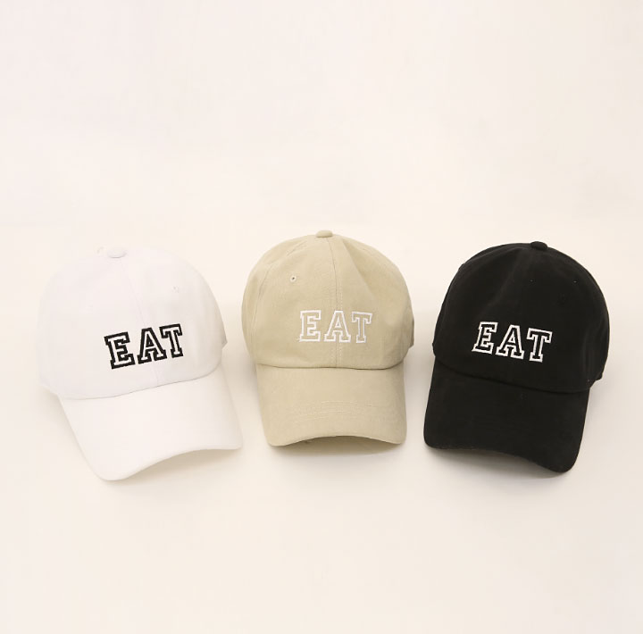 [ACC] EAT LETTERING BALL CAP
