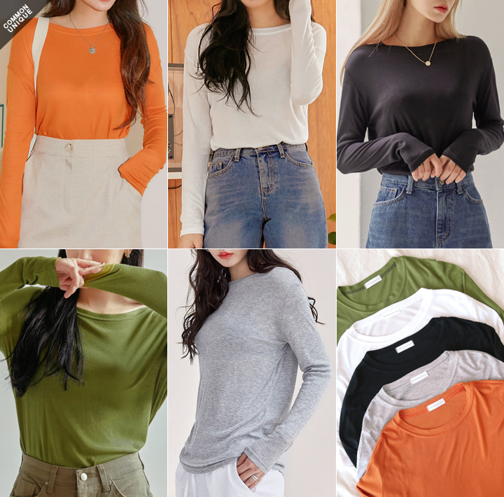 [TOP] 5 COLOR LIMP RAYON TENSION T