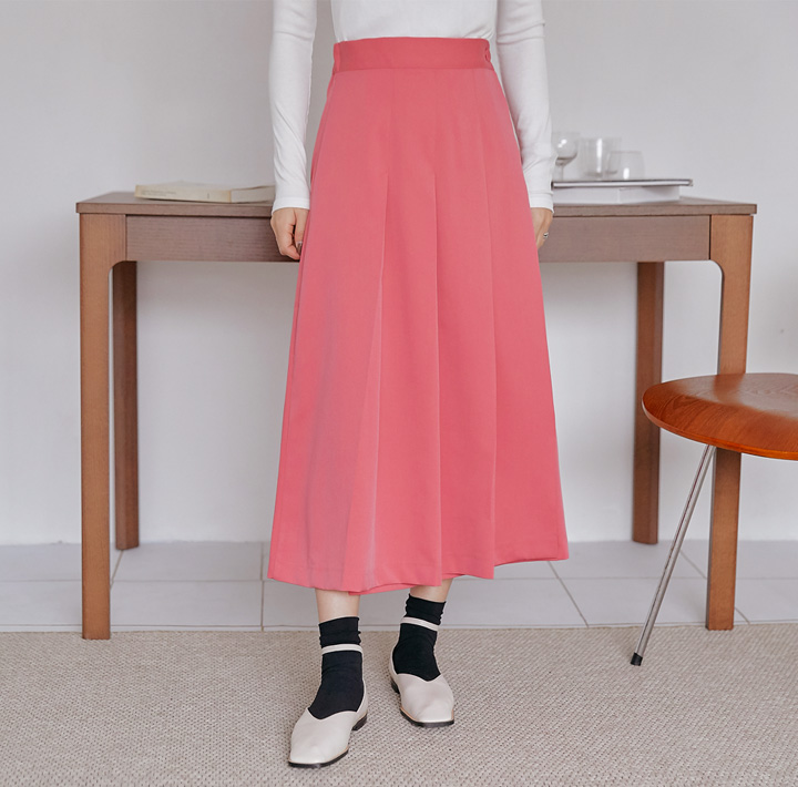 [SKIRT] DIOND PLEATS WRAP LONG SKIRT