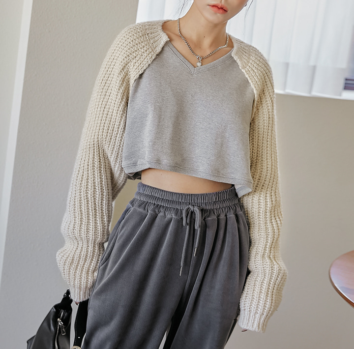 [OUTER] CANYON BOLERO KNIT CARDIGAN
