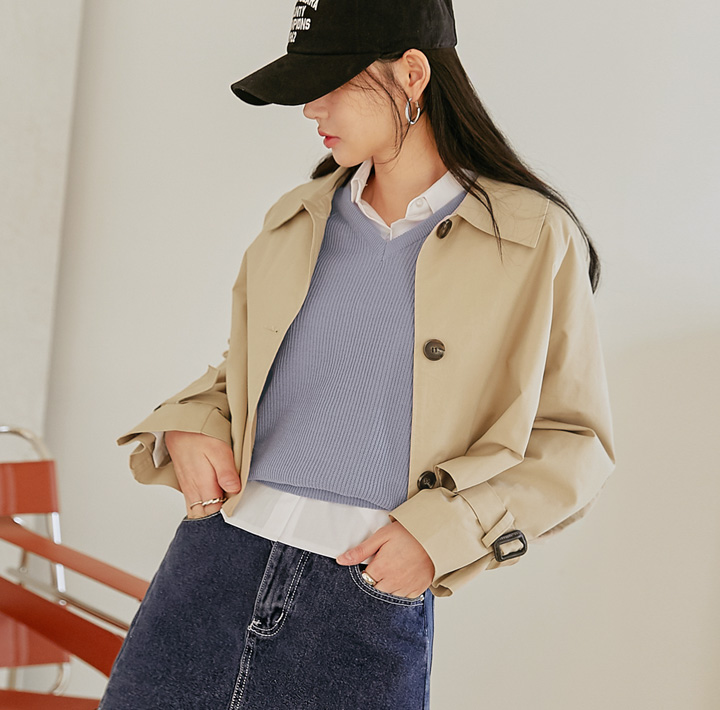 [OUTER] ODEN MAC COLLAR TRENCH JACKET