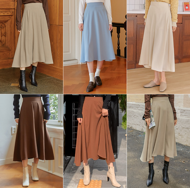 [SKIRT] BUTLER FLARE BANDING LONG SKIRT
