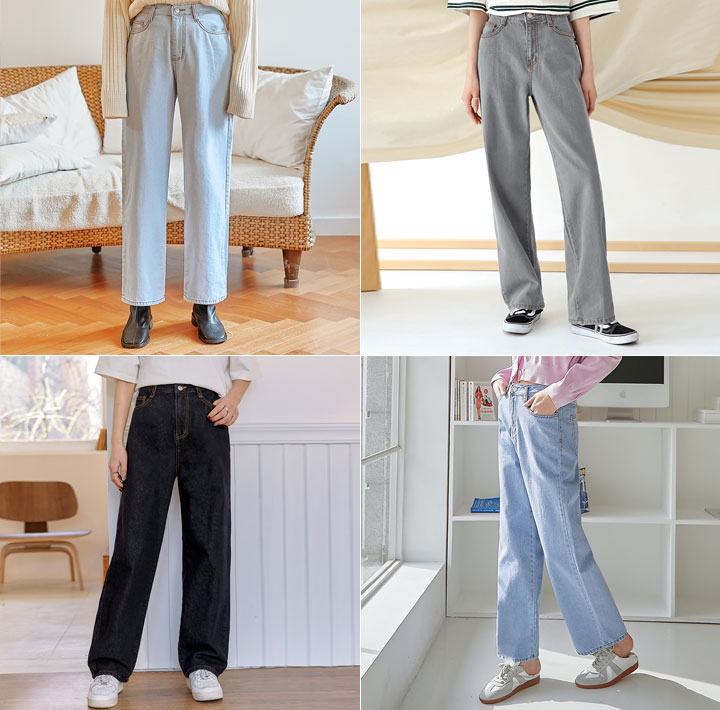 [BOTTOM] MOREBEAN WIDE DENIM PANTS
