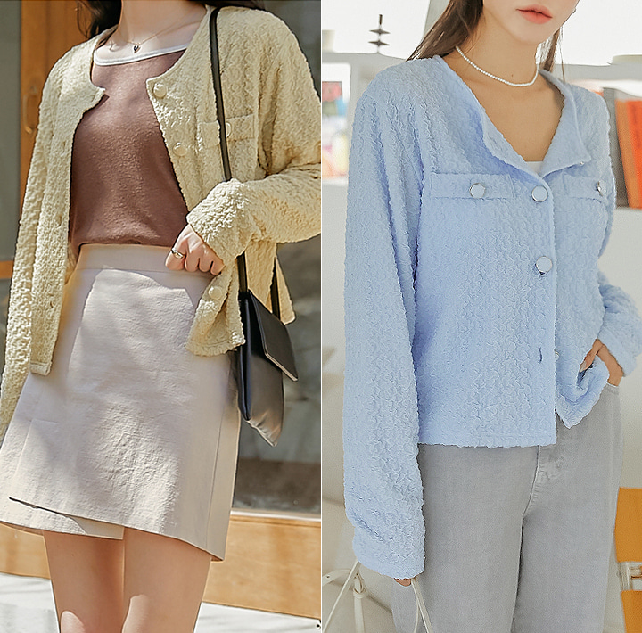 [OUTER] TONIS WRINKLE ROUND CARDIGAN