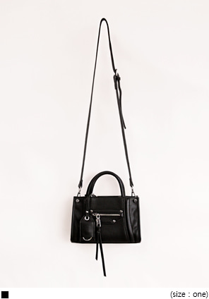 [BAG] ZIPPER MINI TWO WAY BAG