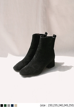 [SHOES] SUEDE SLIM ANKLE BOOTS