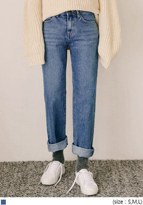 [BOTTOM] DAILY STRAIGHT DENIM PANTS