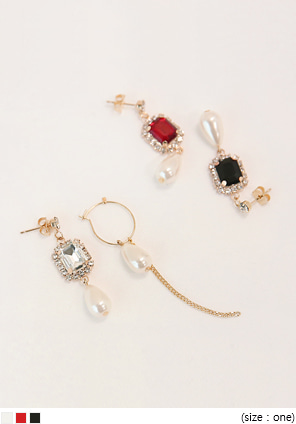 [JEWELRY] ELEGANT UNBAL DROP EARRING