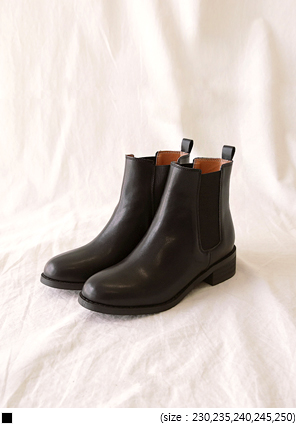 [SHOES] SLIM LINE BANDING CHELSEA BOOTS