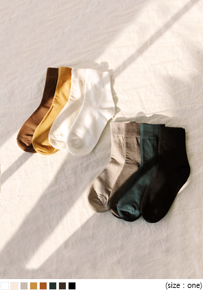 [ACC] 8 COLOR HIGH DAILY SOCKS